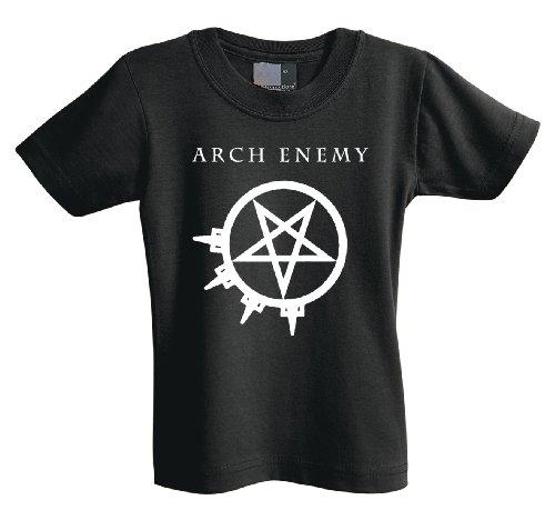 Arch Enemy Pentagramm 701208maglietta per bambini Black 7-8 Anni