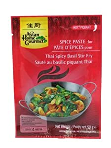 Asian Home Gourmet Spice Paste For Thai Spicy Basil Stir Fry 5 X 175 Oz by Asian Home Gourmet