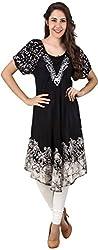 Stylishbae Women's A-Line Dress (Black and White)