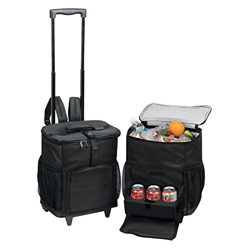 Cooler Shuttle with Tray Color: Blue (Soft Cooler On Wheels compare prices)
