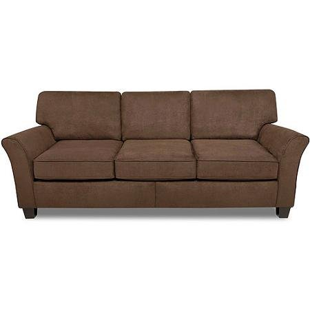 Better Homes and Gardens 3-Cushion Sofa, Brown