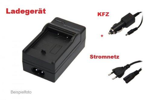 OXENDOX Akku - Ladegerät ( Netzteil / Kfz / black ) für Panasonic Lumix DMC-FZ20