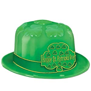 Beistle 33976-25 25-Pack Plastic St. Patrick's Day Shamrock Derbies Party Hat