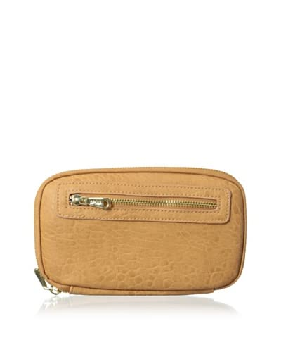 Co-Lab by Christopher Kon Women's Pebbled Zip-Around Wallet, Natural