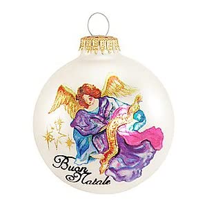 Click to buy Christmas decorations : Italian greeting ornament from Amazon!
