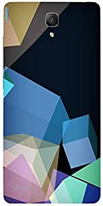 Snoogg Polygon Abstract 2543 Case Cover For Xiaomi Redmi Note