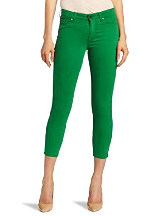 Cj by Cookie Johnson Women's Believe Crop Le Jean, Green, 38