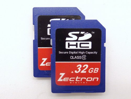 Zectron Digital 32GB Trade Pack 2 x Class 10 High Speed SDHC MEMORY CARD FOR Nikon Coolpix AW100 digital Camera Camcorder Video SD Secure Digital Card