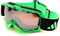 adidas Id2 Pro A184-50-6050 Shield Sunglasses,Transparent Neon Green Frame/LST Bright & LST Active Silver Lens,One Size