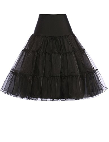 Vintage Women's 50s Rockabilly Tutu Skirt Petticoat 7 Colors