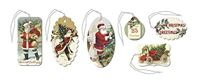 Cavallini & Co. Christmas Cheer Glitter Gift Tag Set