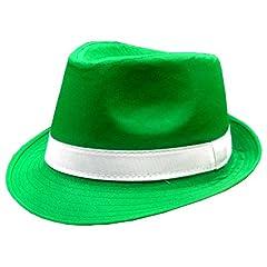 St. Patricks Day Irish Kelly Green Fedora Hat