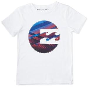 Billabong Hot Shot T-Shirt manches courtes garçon Blanc FR : 8 ans (Taille Fabricant : 8)