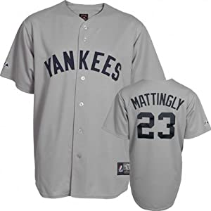 MLB Don Mattingly New York Yankees #23 Majestic Cooperstown Collection Throwback... by Majestic