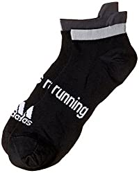 adidas Mens Printed Liners and Ankle Socks (AA6012_Black and White)