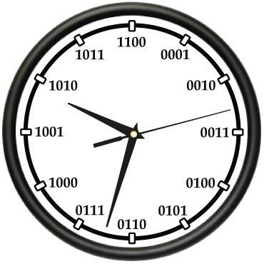 BINARY Wall Clock code computer hack gift