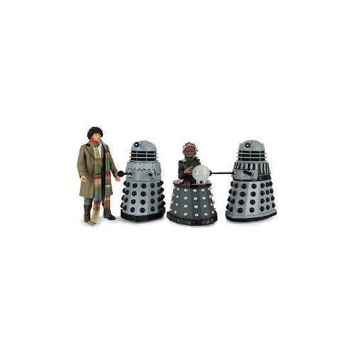 Doctor Who Destiny of the Daleks Fourth Doctor - Davros - 2 Daleks Action Figure 4-pack by Character Options