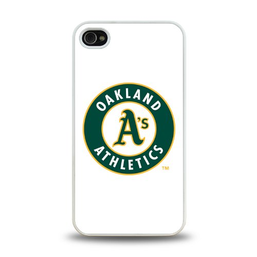 Iphone 4 4S Case Protective Skin Back Cover With Mbl American League Oakland Athletics Team Logo 2014 Latest - 2