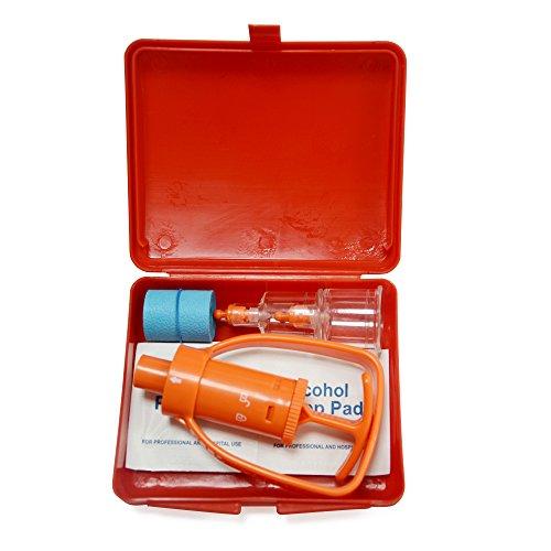 KONMED Emergency First Aid Supplies-Pompa per vuoto da viaggio per aspiratori Kit di sicurezza Snake Venom protezione Bite Venom Extractor