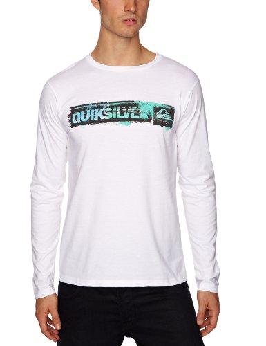 Quiksilver Baseline Ls Tee-KPMJE8019 Logo Men's T-Shirt White XX-Large