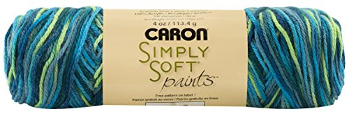 Caron Simply Soft Baby Yarn, 4 Ounce, Peacock Feather