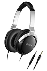 Denon AH-D510R Over-Ear Headphone with Mic (Black)