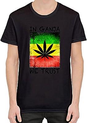 In Ganja We Trust Flag Mens T-shirt