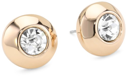 Vince Camuto Rose Gold Crystal Stud Earrings