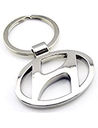 Kolossalz Hyundai Logo Metal Keychain / Keyring / Key Ring / Key Chain (Silver)