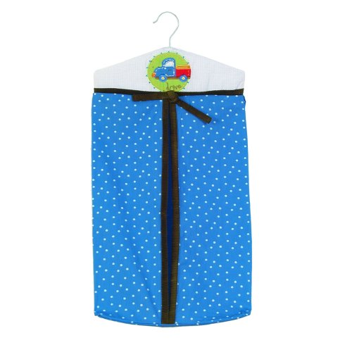 Sumersault Tiny Trips Diaper Stacker, Blues - 1