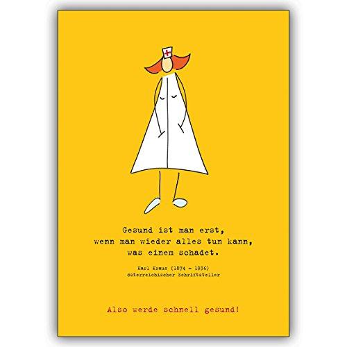 1 Genesungs Karte: Verschicken Sie eine Krankenschwester zur Genesung : Spruchkarte mit Zitat
