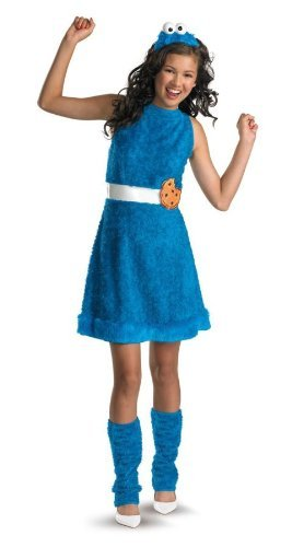 Cookie Monster Child Costume Size 10-12 Large