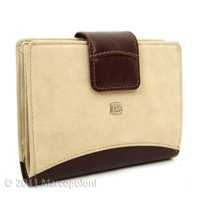 SIENA - Italian Leather Women's Tab Wallet (Soft Sand)