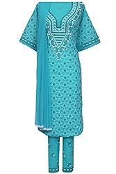 ADA Lucknowi Chikankari Needlecraft Casual Designer Dress Material A93090