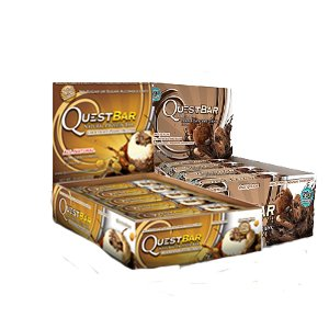 Quest Bundle: 12 Count Double Chocolate Chunk, 12 Count Chocolate Peanut Butter