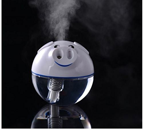 Generic 1pcs Mini USB Pig Shape Air Humidifier Touch Night Light Mute Diffuser Purifier