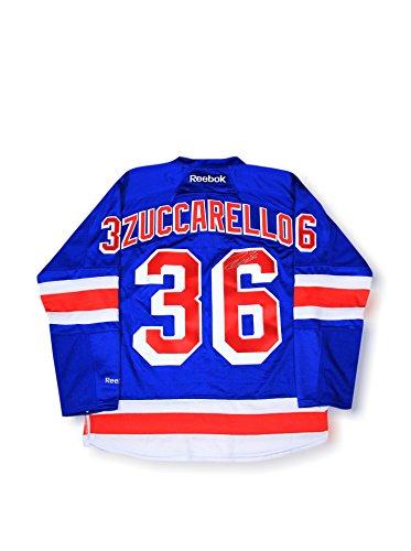 Steiner Sports Memorabilia Mats Zuccarello Signed New York Rangers Blue Jersey