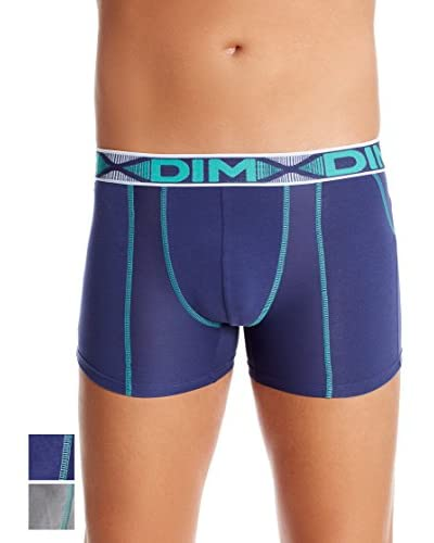 Dim Pack x 2 Bóxers 3D Flex Azul / Gris