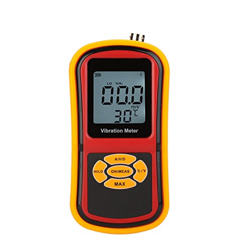 KKmoon GM63B Portable Digital Vibrometer Vibration Analyzer Tester Meter + Temperature Meter with LCD Backlight & Max. Hold