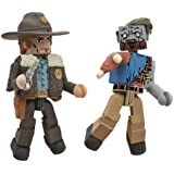 Diamond Select Toys Walking Dead Minimates Series 1: Rick and Roamer Zombie, 2-Pack