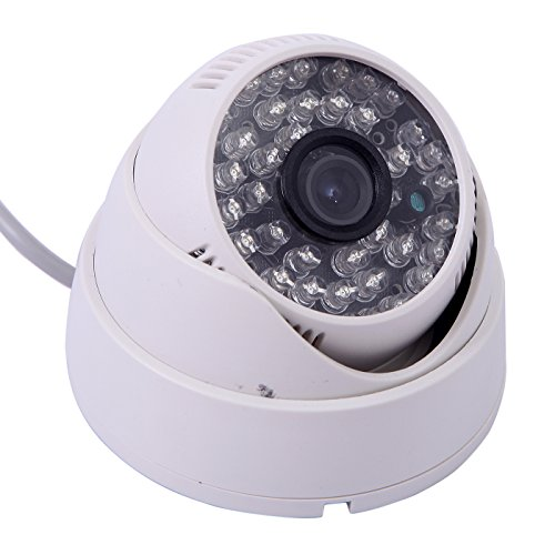 Hde White 48 Led Wide Angle Ir Color Indoor Cctv Security Dome Surveillance Camera