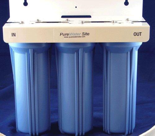 "10"" 3 Stage Under Sink/Counter Water Filtration System (Sediment/Calcium Deposit/Scale/Taste/Odor Filtration)"