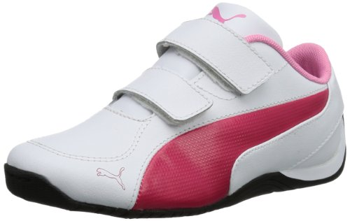 Puma Unisex - Child Drift Cat 5 L V Kids Trainers White Weià (white-virtual pink-sachet pink 03) Size: 22