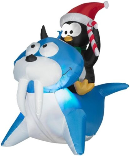 4 Ft. Christmas Airblown Inflatable Holiday Penguin