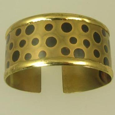 Brass Bangle with Leopard Spot Design