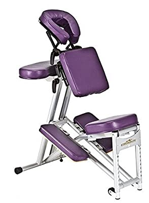 Stronglite ErgoPro Massage Chair + Curve Headrest - Purple - New!