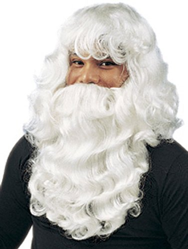 Deluxe White Santa Costume Set - Adult Std.