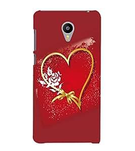 printtech Heart Love Flower Back Case Cover for Meizu m2 note