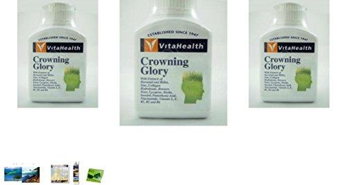 3 Packs Of Vitahealth Crowning Glory 60 Tablets. [Get Free Herbal Lozenges]