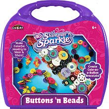 3d Shimmer & Sparkle Buttonz 'N Beads